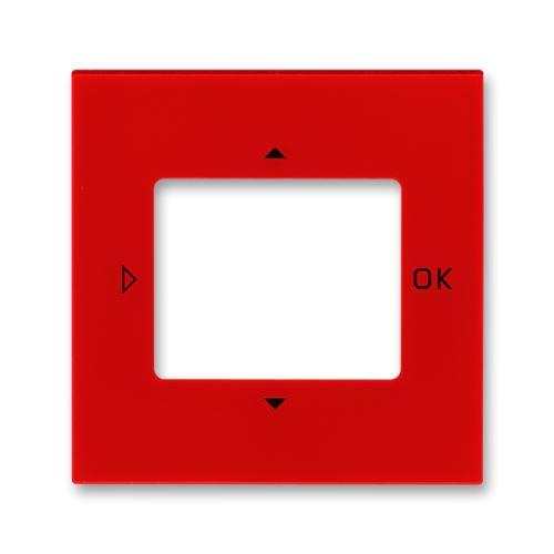 Kryt ovladače časovače komfortního nebo časovače Busch-Timer, červená/kouř. černá, ABB Levit