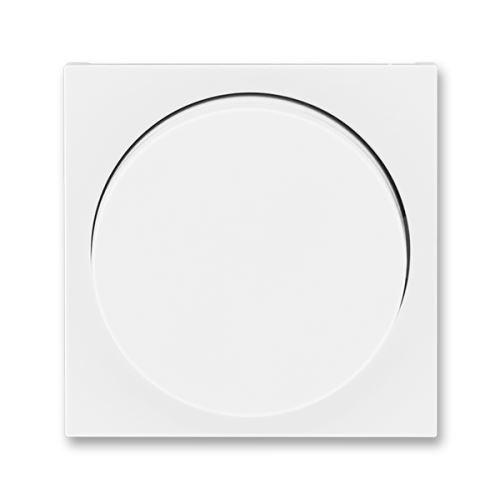 Kryt stmívače s otočným ovladačem, bílá/bílá, ABB Levit