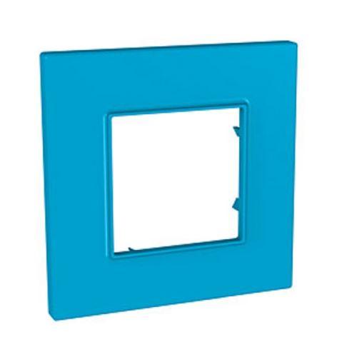 Krycí rámeček Quadro jednonásobný, Aqua Schneider