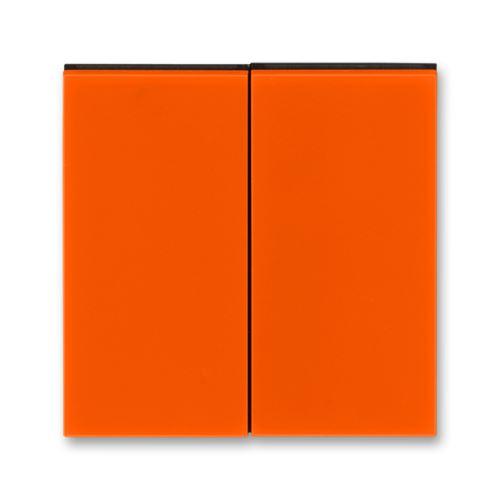 Kryt dělený, oranžová/kouřová černá, ABB Levit