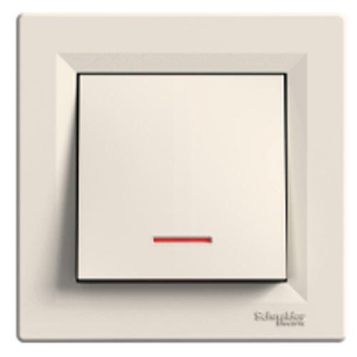 Spínač 1pólový orientační kontrolka ř.1So, krémová Schneider Asfora