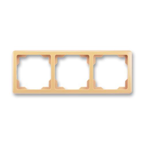 Rámeček trojnásobný (pro vodorovnou i svislou montáž), béžová, ABB Swing