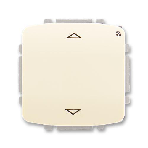 Spínač žaluziový s krátkocestným ovl., s RF přijímačem, 868 MHz, slonová kost, ABB Tango