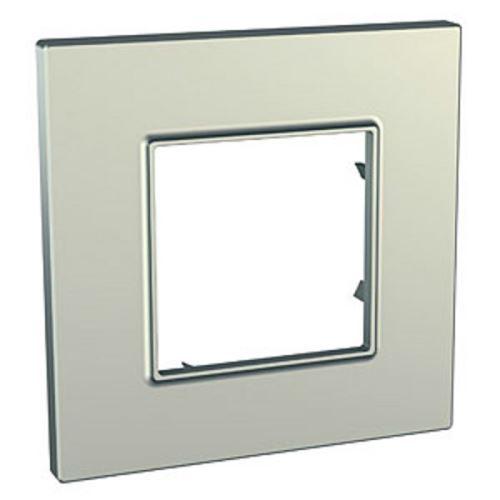 Krycí rámeček Quadro jednonásobný, Titanium Schneider
