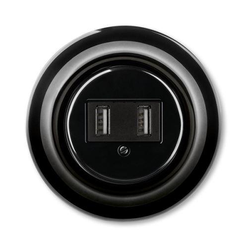 ABB Decento Přístroj nabíjecí USB, černá