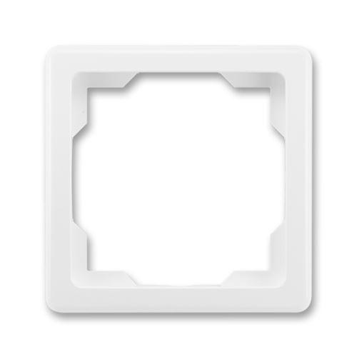 Rámeček jednonásobný, jasně bílá, ABB Swing