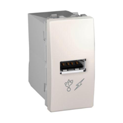 USB 2.0 nabíjecí konektor, marfil Schneider