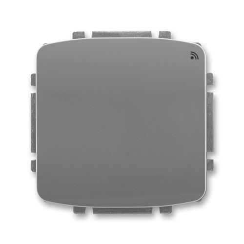 Spínač s krátkocestným ovladačem, s RF přijímačem, 868 MHz, kouřově šedá, ABB Tango