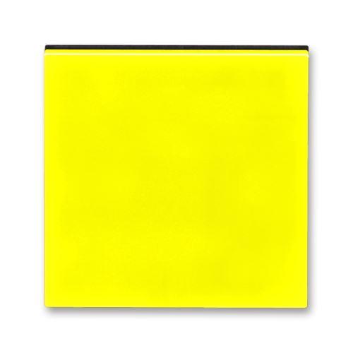 Kryt stmívače s krátkocestným ovladačem, žlutá/kouřová černá, ABB Levit