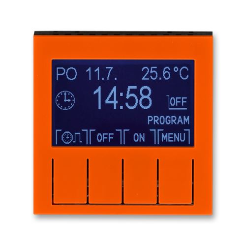 Hodiny spínací programovatelné (ovládací jednotka), oranžová/kouřová černá, ABB Levit