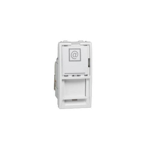 Zásuvka datová 1xRJ45 S-One, kat.6a STP, 1m, polar Schneider