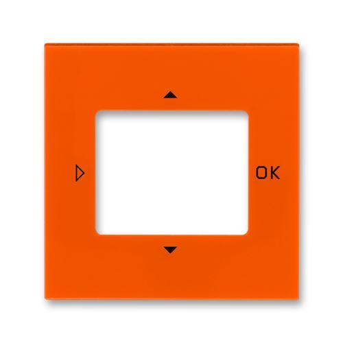 Kryt ovladače časovače komfortního nebo časovače Busch-Timer, oranžová/kouř. černá, ABB Levit