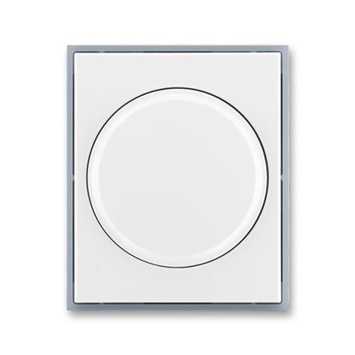 Kryt stmívače s otočným ovládáním s upevňovací maticí, bílá/ledová šedá, ABB, Element