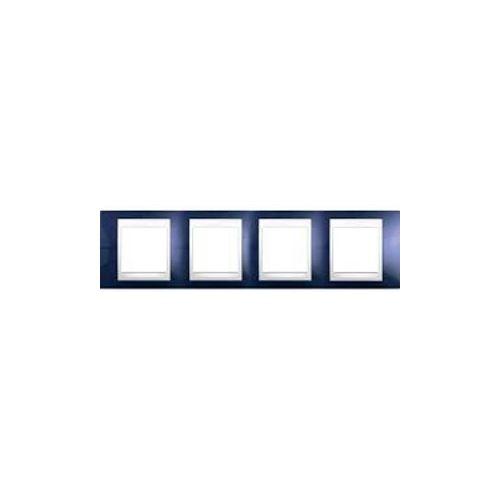Krycí rámeček Plus čtyřnásobný,Indigo/Polar Schneider