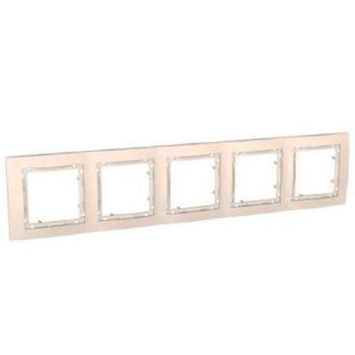 Krycí rámeček bez dekorativního rámečku pětinásobný, Marfil Schneider