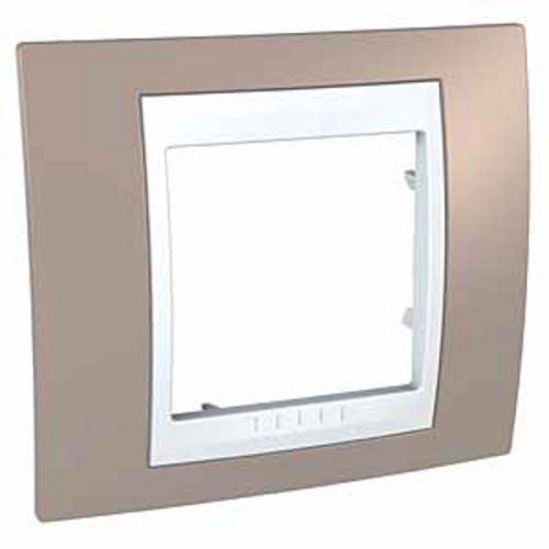 Krycí rámeček Plus jednonásobný, Mink/Polar Schneider