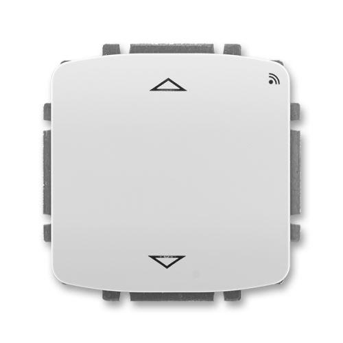 Spínač žaluziový s krátkocestným ovl., s RF přijímačem, 868 MHz, šedá, ABB Tango