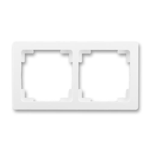 Rámeček dvojnásobný (pro vodorovnou i svislou montáž), jasně bílá, ABB Swing L