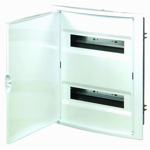Rozvodnice pod omítku  28M průhledné dveře (2 řady) IP40 RZG-Z bílá