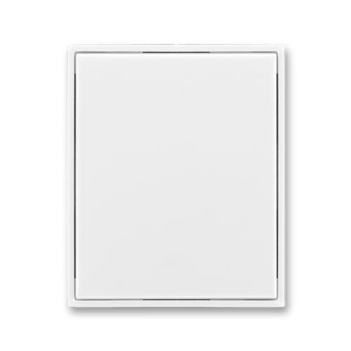 Kryt stmívače s krátkocestným ovládačem, bílá/bílá, ABB Element, Time
