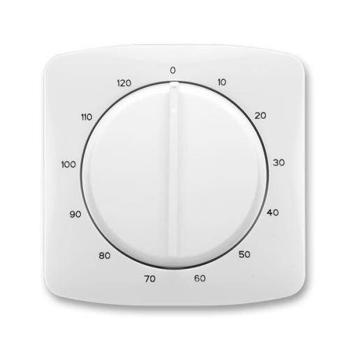 Kryt ovládače časového s otočným ovladačem, bílá, ABB Tango