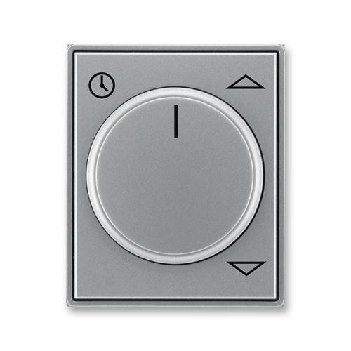 Kryt spínače žaluziového komfortního s otočným ovladačem, ocelová, ABB Time