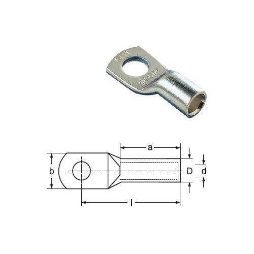 16x10 KU-L CU lisovací kabelová oka