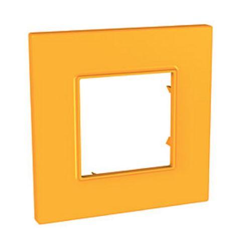 Krycí rámeček Quadro jednonásobný, Citrus Schneider