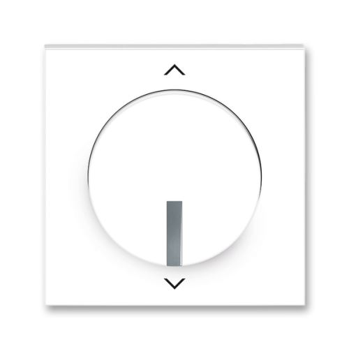 Kryt spínače žaluziového Busch-Jalousiecontrol ll s krátkocestným ovládáním, bílá/ledová šedá, ABB Neo
