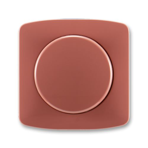 Kryt stmívače s otočným ovládáním s upevňovací maticí, vřesová červená, ABB Tango