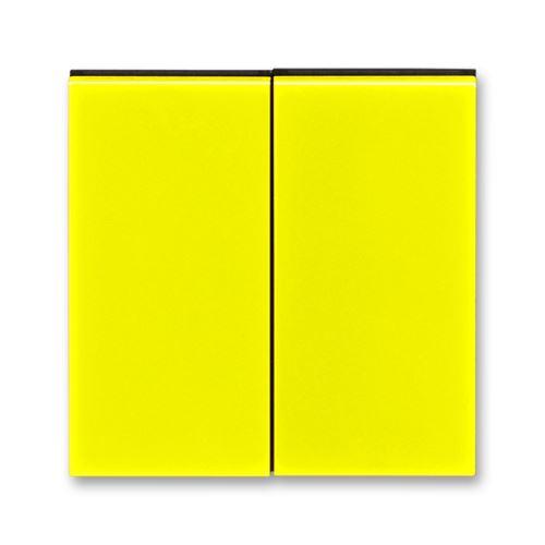 Kryt dělený, žlutá/kouřová černá, ABB Levit
