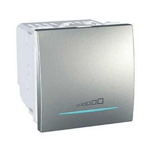 Stmívač tlačítkový 20-350W, alu Schneider