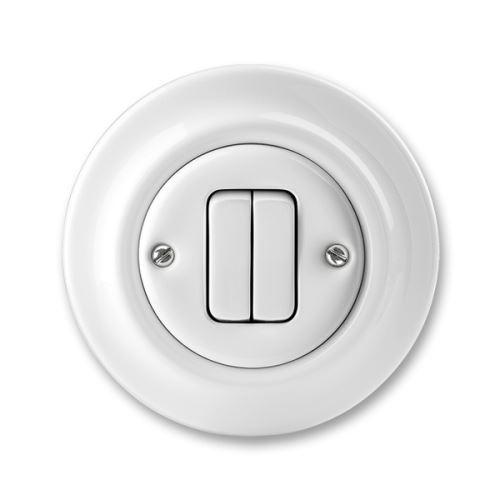 Přepínač sériový, bílá, porcelán, ABB Decento 3559K-C05345