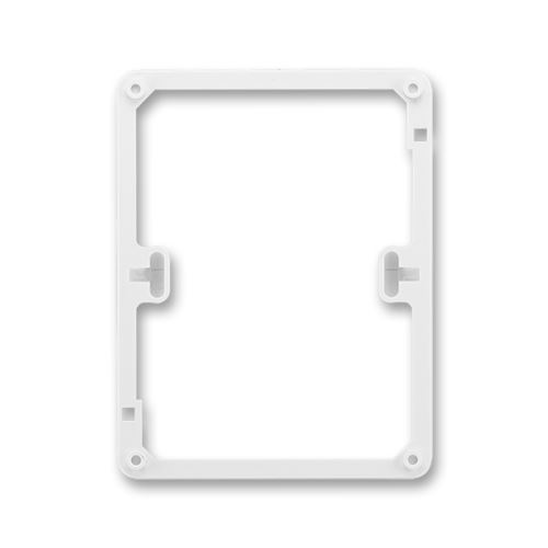 Rámeček distanční pod dvojnásobnou zásuvku, jasně bílá, ABB Classic, Swing
