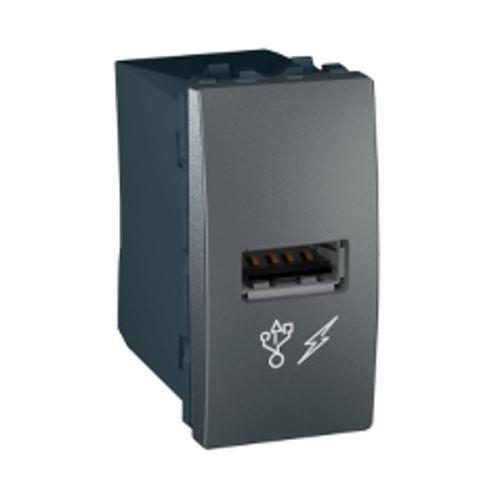 USB 2.0 nabíjecí konektor, grafit Schneider