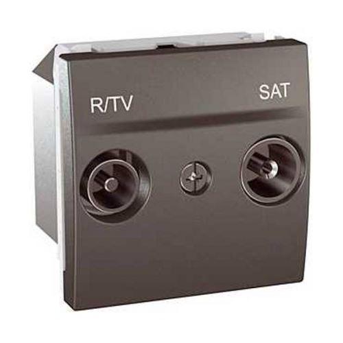 Zásuvka TV/R-SAT, koncová, Grafit Schneider