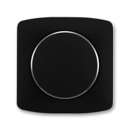 Kryt stmívače s otočným ovládáním s upevňovací maticí, černá, ABB Tango