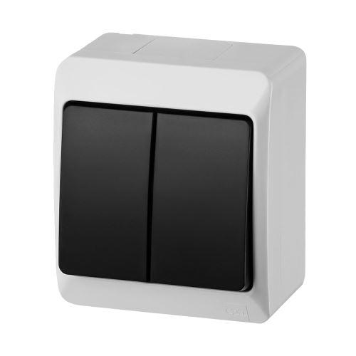 GALATEA IP44 Spínač sériový č.5 (bílá / kolébka černá)