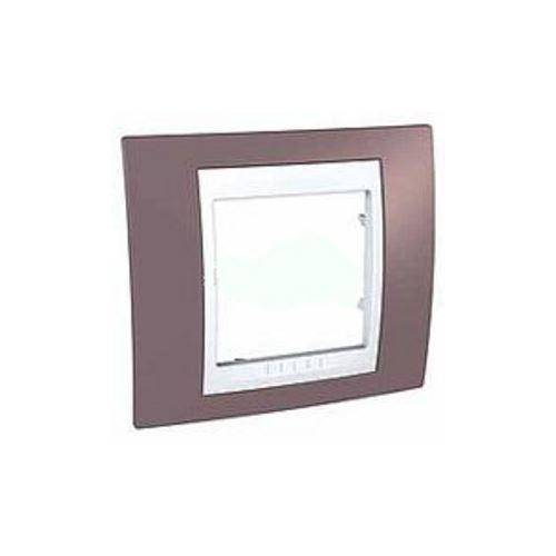 Krycí rámeček Plus jednonásobný, Mauve/Polar Schneider