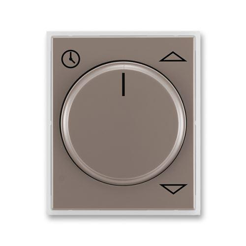 Kryt spínače žaluziového komfortního s otočným ovladačem, lungo/mléčná bílá, ABB Time
