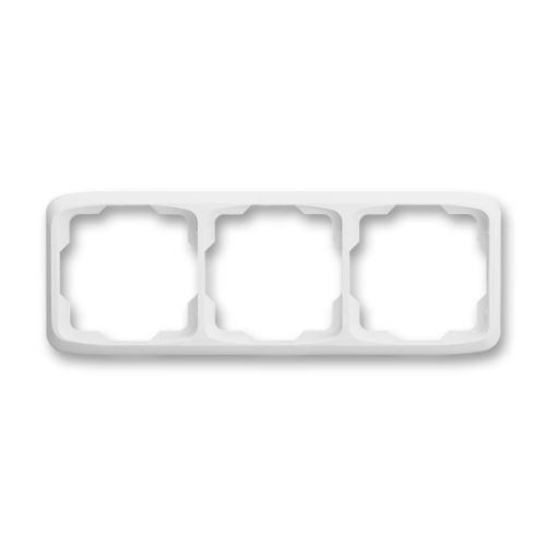 Rámeček trojnásobný vodorovný, bílá, ABB Tango