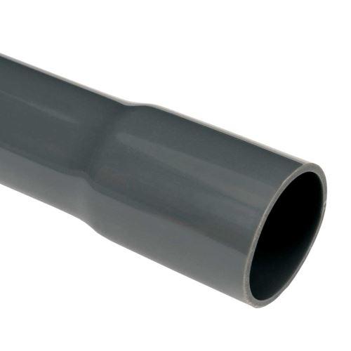 Trubka pevná  750N  4040 /3m tmavě šedá
