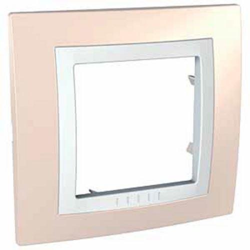 Krycí rámeček jednonásobný kompletní, Cream/Polar Schneider