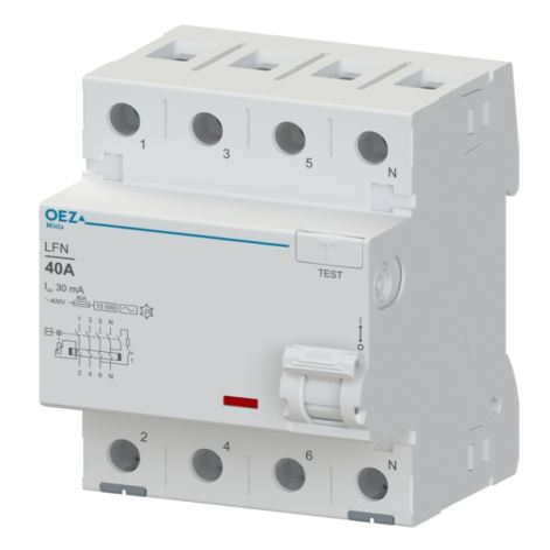 Chránič proudový 4p  40A 100mA typ AC LFN