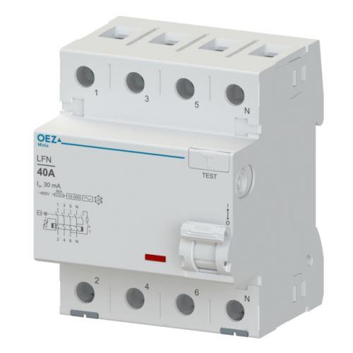 Chránič proudový 4p  40A  30mA typ AC LFN