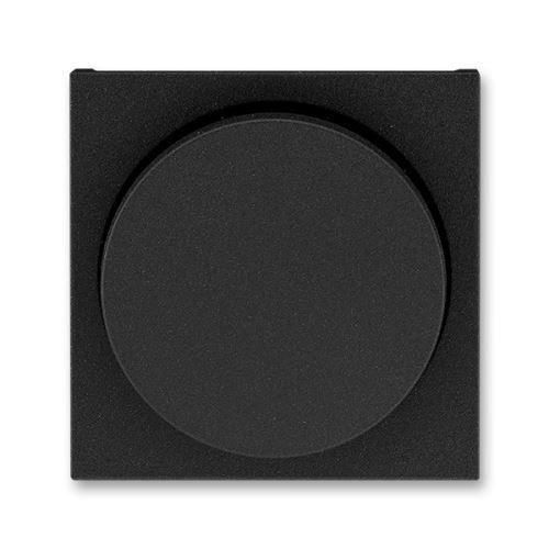 Kryt stmívače s otočným ovladačem, onyx/kouřová černá, ABB Levit