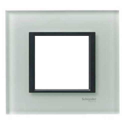 Krycí rámeček Class jednonásobný, Grey glass Schneider