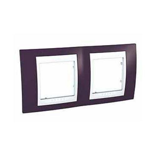 Krycí rámeček Plus dvojnásobný, Garnet/Polar Schneider