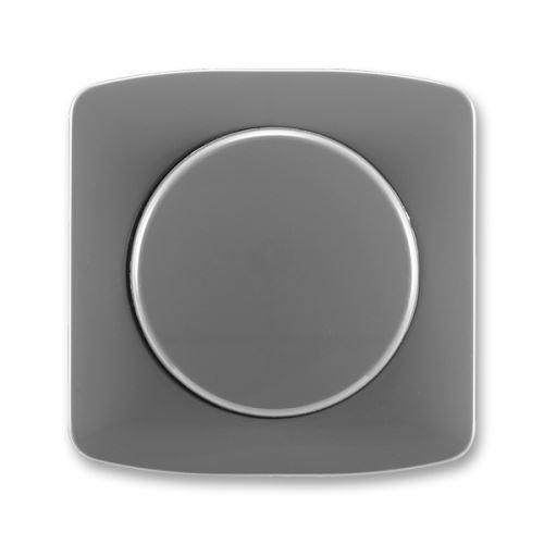 Kryt stmívače s otočným ovládáním s upevňovací maticí, kouřově šedá, ABB Tango