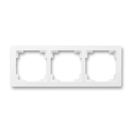 Rámeček trojnásobný (pro vodorovnou i svislou montáž), jasně bílá, ABB Swing L
